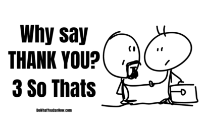 "Daily Devotionals Day – 4: Why Say ""THANK YOU?"" 3 So Thats"