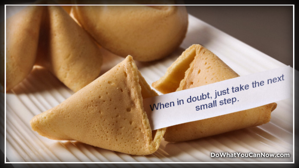 Fortune Cookie Wisdom: No MoreDOUBT?
