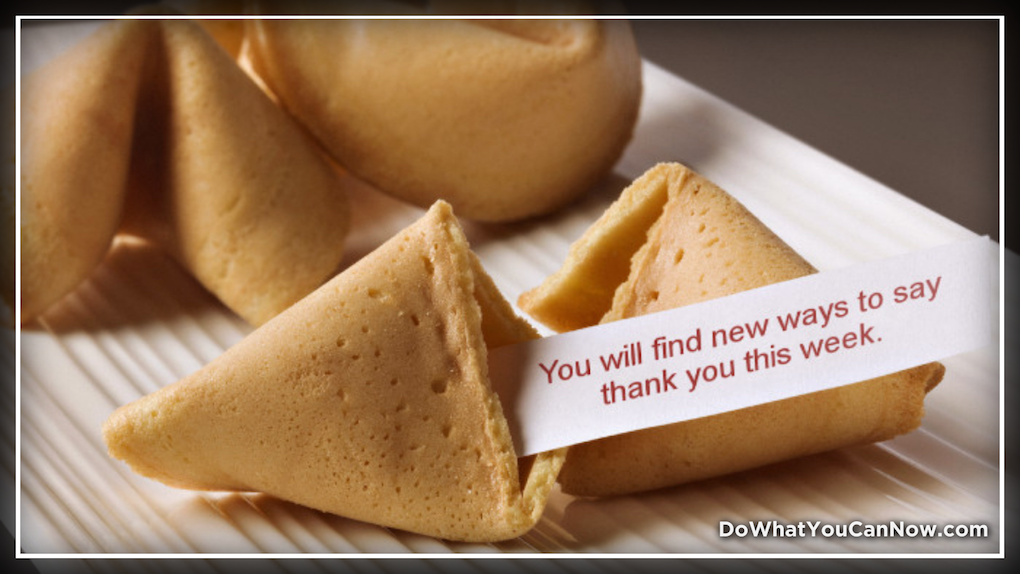 Fortune Cookie Wisdom: New Ways to Say ThankYou